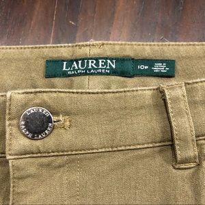Lauren Ralph Lauren tan jean capri 10P